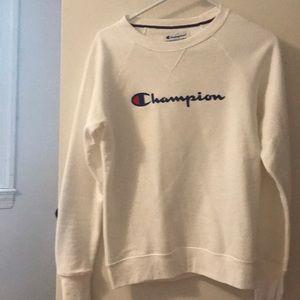 White champion sweatshirt unisex